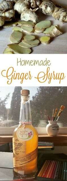 Spice up your beverages and desserts with Homemade Ginger Syrup! Recipe plus 9 ways to use this delicious, versatile syrup. | The Good Hearted Woman