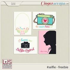 Free #Selfie Journal Cards from LJS Digital Designs {GingerScraps iNSD 2015 Facebook Hop}