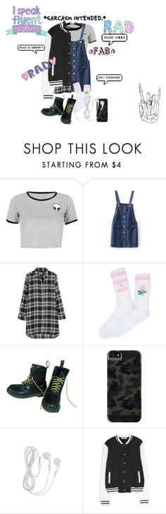 """Untitled #59"" by rareleey on Polyvore featuring WithChic, DKNY, Yeah Bunny, Dr. Martens, Case-Mate, MANGO and Miss Selfridge"
