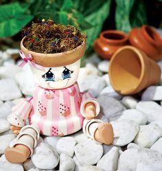 Boneca feita com vasos / DIY, craft