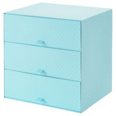 """PALLRA Mini chest with 3 drawers - light blue - IKEA Mini chest with 3 drawers, light blue, 12 ¼ """" A sturdy chest with fish scale texture. Use it on its own or pair it with EKET Small Storage, Storage Boxes, Storage Chest, Entrada Ikea, Pens Usb, Hemnes Shoe Cabinet, Kallax Shelving, Billy Regal, Drawer Lights"""