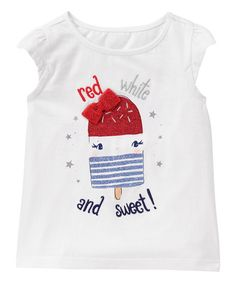 Gymboree White Sweet Ice Cream Americana Tee - Infant & Toddler   zulily