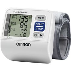 Omron 3 Series Wrist Blood Pressure Monitor - Omron 3 Series Wrist Blood Pressure Monitor  List Price: $59.99   No. 1 Doctor and Pharmacist Recommended Brand Discrete and convenient portable wrist unit allows you to monitor your blood pressure anywhere Hypertension Indicator icon alerts you if your reading exceeds internationally recognized guidelines for normal home blood pressure levels Advanced Averaging feature automatically displays the average of up to the last 3 readin