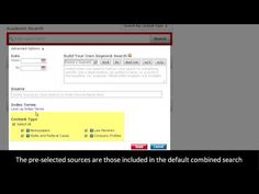 Introduction to LexisNexis Academic - video tutorial shows you how to use various search tools.