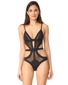78e73ab2e4377 Kopper   Zink - Black Frankie One Piece Swimsuit - Lyst