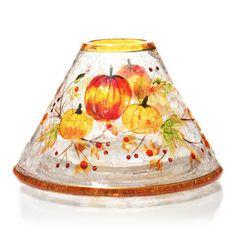 YANKEE-CANDLE-PUMPKIN-CRACKLE-GLASS-JAR-CANDLE-SHADE-NWTS-RETIRED-RARE-HTF