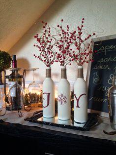 Christmas Joy wine bottle craft