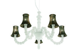 Seahorse design by Romani Saccani architetti associati | Chandelier in elastic fabric | #light4 #design #lamp