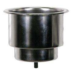 Whitecap Flush Cupholder w/Drain - 302 Stainless Steel