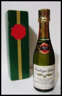 Vintage 70s Avon Novelty Vintage New Year Champagne Decanter w Box Wild Country