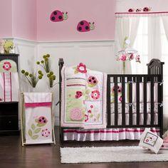 Kidsline Dotty 6 Piece Crib Bedding Set