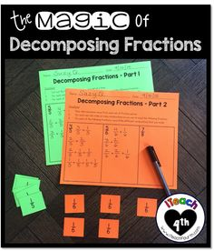 iTeach Fourth: 4th Grade Teaching Resources: The Magic of Decomposing Fractions!!