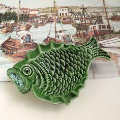 Portuguese Fish majolica ceramic dish