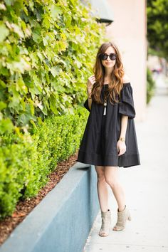 Black off the shoulder summer dress on M Loves M @marmar