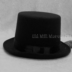 627a1cd3830 Black top hat synthetic felt like fabric one size Large-ExtraLarge only