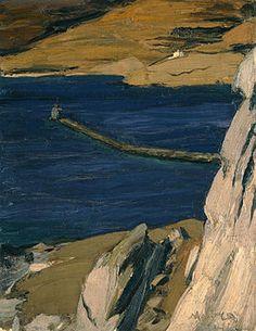 "bofransson: "" The Lighthouse, Nikolaos Lytras "" Greece Painting, France Art, 10 Picture, Greek Art, Tumblr, Chiaroscuro, Modern Artists, Greek Islands, Disney Art"