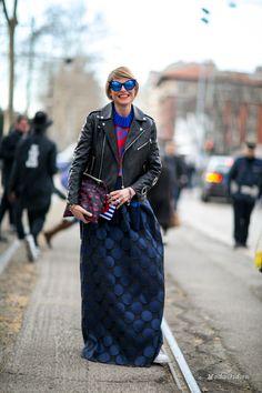 Уличная мода: Неделя моды в Милане сезона осень-зима 2015-2016: уличный стиль