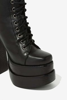 Jeffrey Campbell Ballistic Leather Platform - Lace-Up | Heels | Boots | Jeffrey Campbell |  | Boots