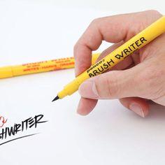 ペンコのブラシライター!こんなにお洒落な筆ペンがあるなんて!レタリング文字を手書きするのにも使えるアイテムです!