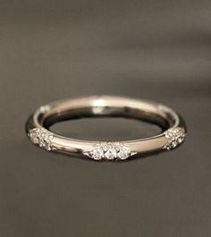 18k and diamond constellation band