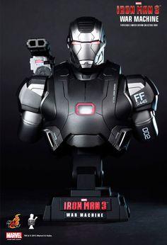 Busto Iron Man 3. Máquina de guerra 23 cms. Hot Toys
