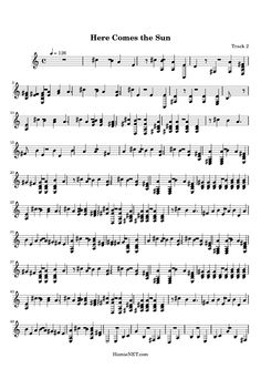 Here Comes The Sun Sheet Music PDF Download ...