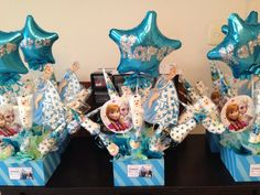 $18.00 Disney's Frozen Candy Centerpieces. We deliver locally for free and Ship internationally as well.  Please order at least 1-2 before your event.