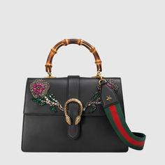 a5ad4947f2aa Dionysus embroidered leather top handle bag Boston Bag, Dionysus, Gucci  Handbags, Modern Luxury
