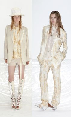 Love that suit on the right!  Acne | Tom & Lorenzo