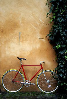 #bike #biciclette #bicicleta #fixed gear #fixie Red Bicycle