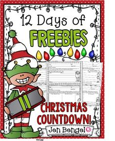 Happy Holidays teacher friends!!   With a newly adopted son, a new home, and a career I LOVE, I have so much to be thankful for this year, and I wanted to give some gifts to to you all.  Sooooo, I decided to go all Ellen and do my own version of '12 Days of Giveaways'  Today's freebie is...  11 Comprehension Task Cards!!   1.