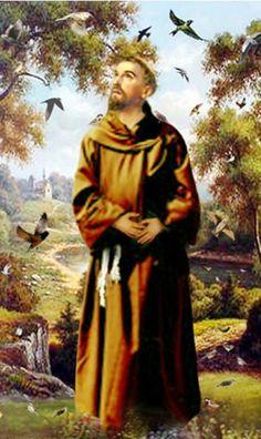Francisco de Asís, santo italiano fundador de la orden franciscana (1181-1226)