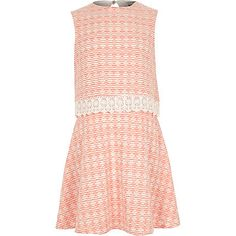 Double layer lace dress