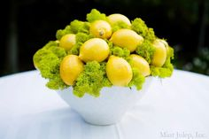 Lemon Centerpiece ~ Coordination by Mint Julep Social Events.