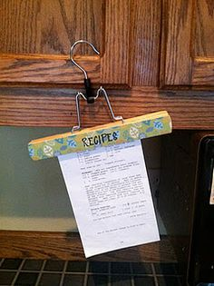 the simplest recipe holder ever...