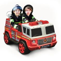 Kid Motorz Fire Engine 2-Seater 12-Volt Ride-On in Red - buybuyBaby.com