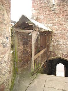 Berkely castle. Entrance to Edward II room where he was imprisoned and murdered.
