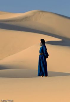 Nomad woman. Singing Dunes . Gobi Desert . Mongolia