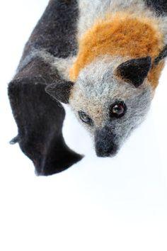 Grey Headed Flying Fox Custom Sculpture for by YvonnesWorkshop