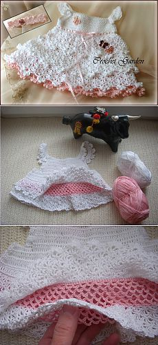 princess dress crochet for baby - crafts ideas - crafts for kids
