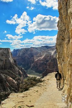 Observation Point trail, Zion National Park, Utah, USA