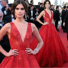 Sara Sampaio wearing Zuhair Murad at Cannes Film Festival May 2017