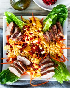 Summer Duck Salad | DIVERSE DINNERS Duck Salad, Braised Duck, Winter Dishes, Orange Salad, Meat Lovers, How To Make Salad, Fruit And Veg, Meals For Two, Food Print