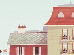 Paris, Glenn Thomas // Great roof and wall texture.