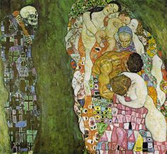 Gustav Klimt, DEATH AND LIFE (1916). Oil on canvas, 178 x 198 cm. Private collection, Vienna 1916.