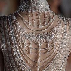 Embellished back of dress . Yennefer Of Vengerberg, Fashion Details, Fashion Design, Fancy, Mode Inspiration, Costume Design, Couture Fashion, Body Jewelry, Beautiful Dresses