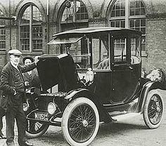 Thomas Edison and an electric car. (Somewhere in-between 1832 and 1839 {the exact date is unknown}, Scotsman Robert Anderson is credited with inventing the first electric car) Edison said electricity was the future because all of the oil would be pumped out of the ground, but it was decided that more money could be made from taxing petrol. Imagine what we would have now if Edison had been listened to a century ago.