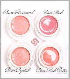 Crystal Nails Cover Builder gels www.crystalnails.com/webshop/pink-builder-gels