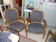 pair recovered chairs