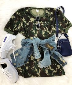 Moda Juvenil Vestidos Casual For 2019 Cute Swag Outfits, Cute Comfy Outfits, Trendy Outfits, Tumblr Outfits, Teen Fashion Outfits, Teenager Outfits, Look Cool, Fashion Looks, Stylish